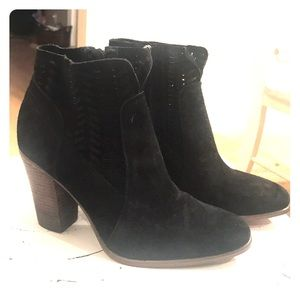 Vince Camuto Black Suede Ankle Booties